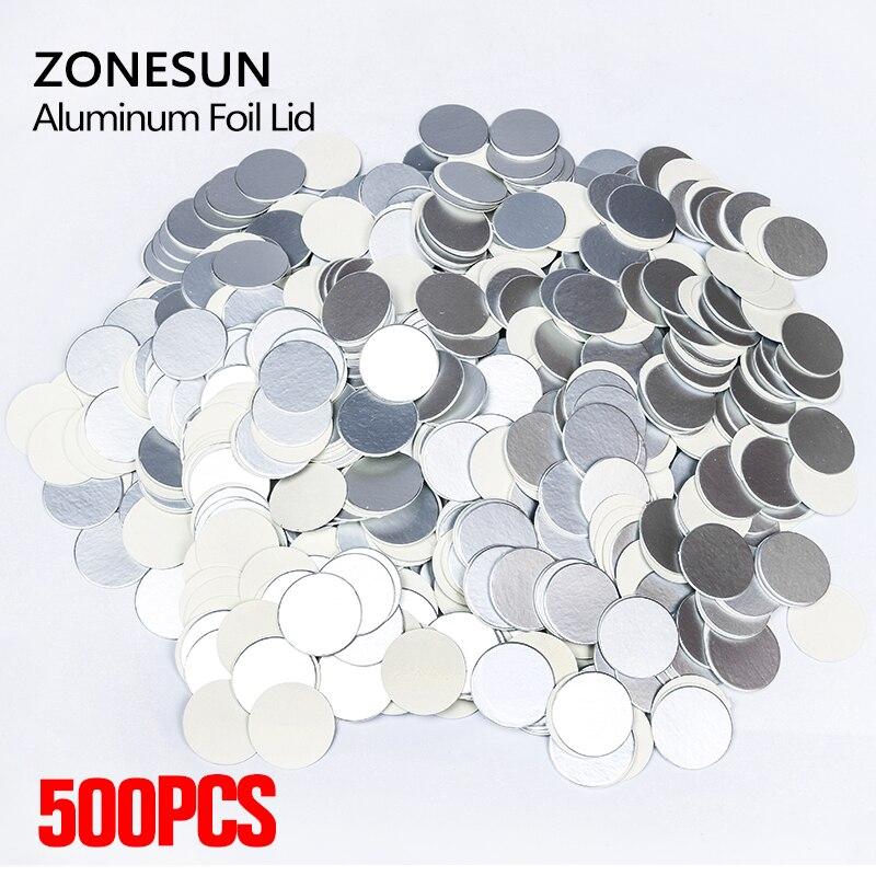 ZONESUN 500pcs Customizable  Aluminum foil seals for PET PE HDPE bottle induction lids sealer medical grade Aluminum foilZONESUN 500pcs Customizable  Aluminum foil seals for PET PE HDPE bottle induction lids sealer medical grade Aluminum foil