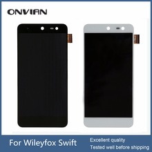 Black/WHITE Wileyfox swift Touch screen+ lcd screen display assembly replacement for Wileyfox swift Smartphone +tracking number