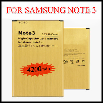 For Samsung Note 3 battery B800BE B800BC Golden Replacement Battery for GALAXY NOTE3 N9000 N9006 N9002 N9005 N9008 N909 battery protective clear screen protector for samsung galaxy note 3 n9000 n9005 transparent 3 pcs