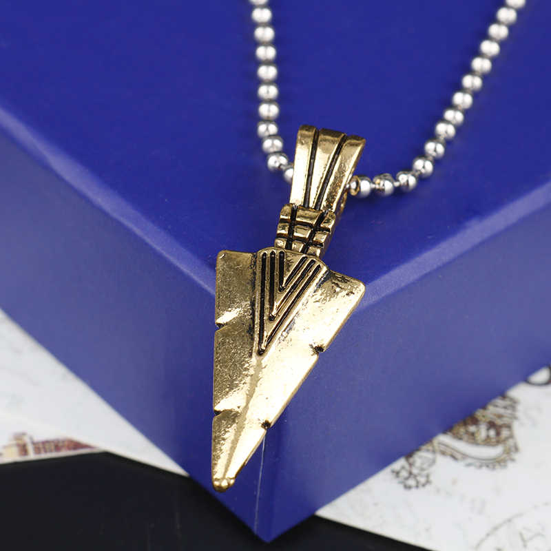 MQCHUN Necklaces Vintage Spearhead Arrowhead Pendant Necklace Men Special Surf Bike Chocker Jewelry Gift Cosplay Christmas Gift