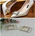 Frete grátis (4 Pçs/lote) Ms moda sapatos de salto alto sapato de cristal Branco clipe ofício DIY sapato fivela fivela de metal hardware