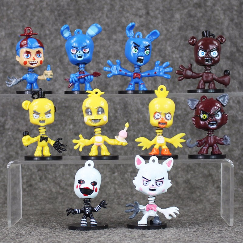 Hot Sale 10Pcs Set Five Nights At Freddy s figure FNAF Chica Bonnie Foxy Freddy Fazbear
