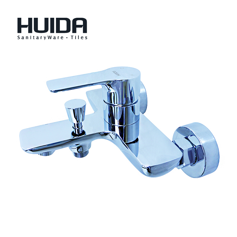 HUIDA bathroom shower faucet contemporary single handle bath tub faucet wall mounted chrome plated cold hot water mixerHDA3273Y
