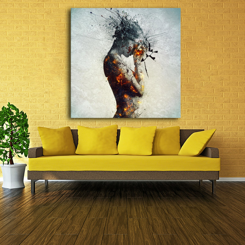 Contemporary Modern colorful nude art painting prints painting ...