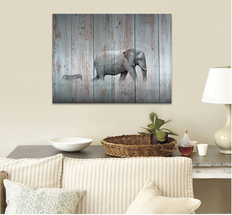 Hd photo canvas prints elephant and zebra painting wood board hd photo canvas prints elephant and zebra painting wood board painting modern home wall decorationva170731 8 in painting calligraphy from home garden altavistaventures Images