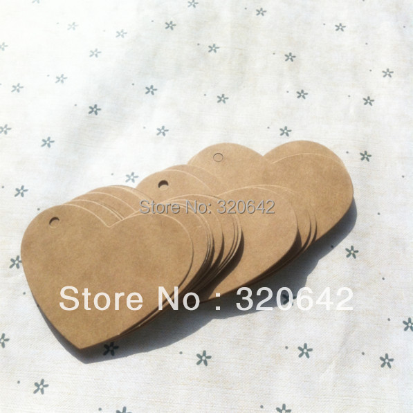 Free Shipping Kraft Paper Hang Tags Diy Blank Design Table Label
