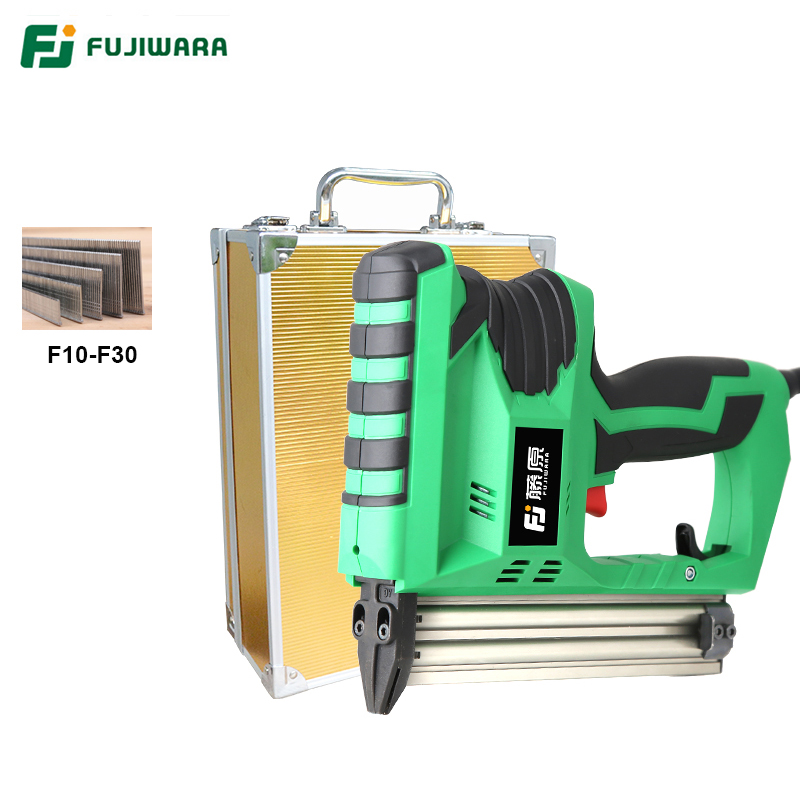 FUJIWARA Electric Nail Gun Professional F30 Straight Nailing Tool Pneumatic Nail Gun Fast Continuous Shooting Woodworking shooting straight