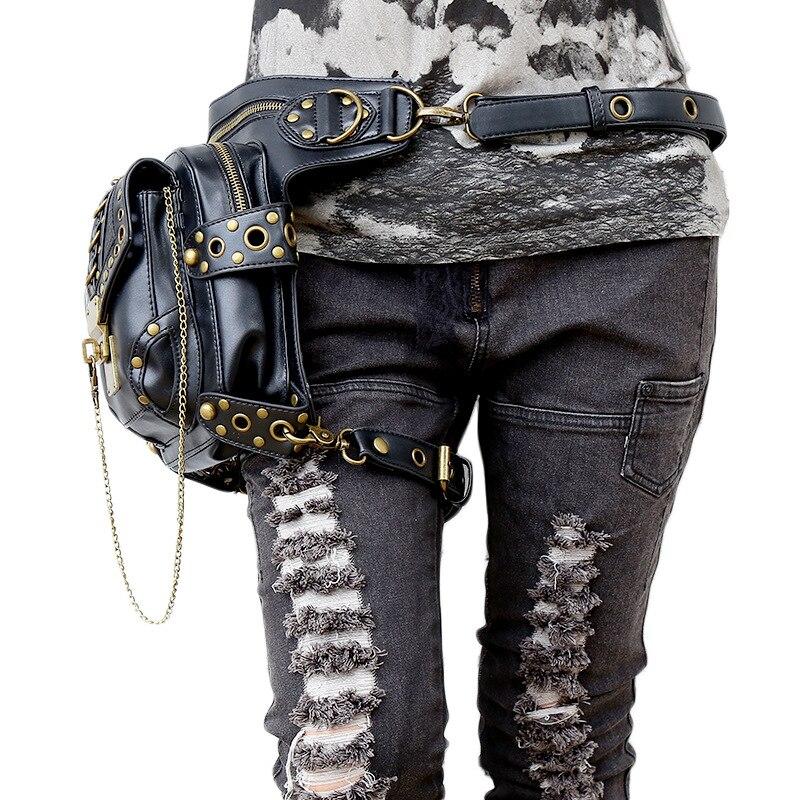 Lady fickor Partihandel Retro Messenger Bag Punk Män Kvinnors - Bälten väskor - Foto 2
