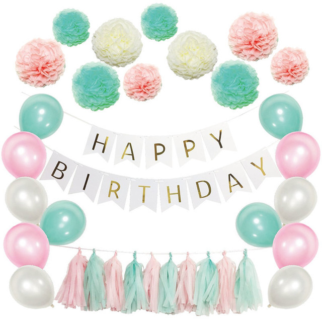 Birthday Party Background Backdrops Decorative Set Diy Colored Sweet