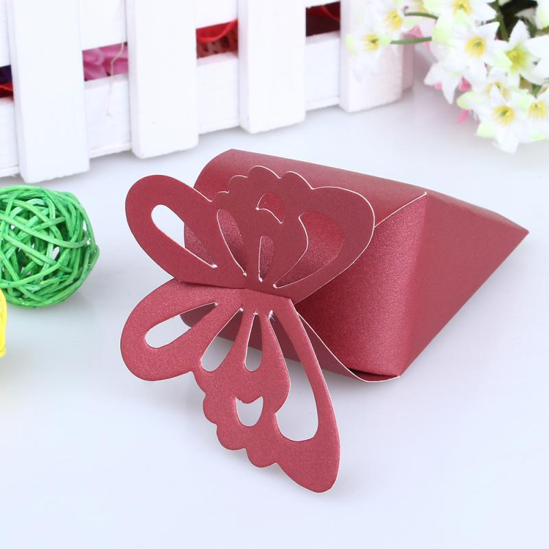 50pcs Wedding Favors Decor Candy Gift Boxes Wedding Party