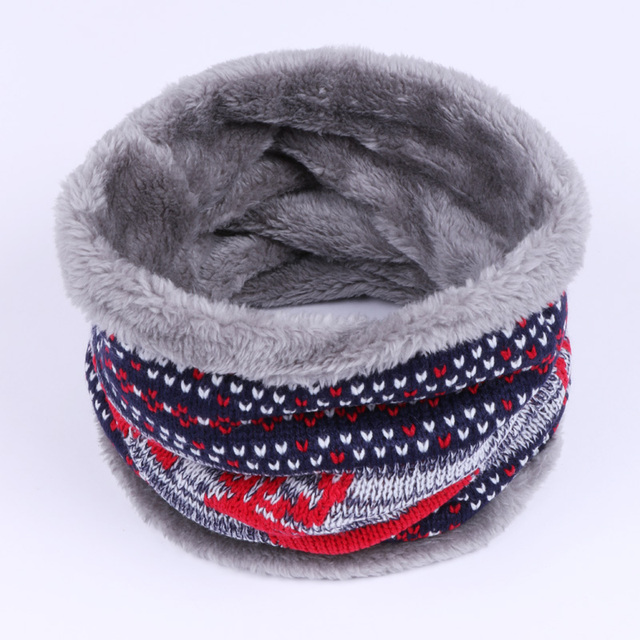 2018 Fashion Winter Neck Scarf Woman Unisex Kids Fur Collar Double Layer Wool Knitting Thickened Cotton Neckerchief Dropshipping