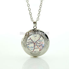 Wholesale Charms Jewelry vintage Las Vegas map jewelry souvenirs  gift jewelry personalized gift for men and women N 891