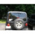 Acero negro Posterior Del Coche Antena Holder Soporte Fábrica Transportador Neumático De Repuesto Para Jeep Wrangler JK 2007-2015