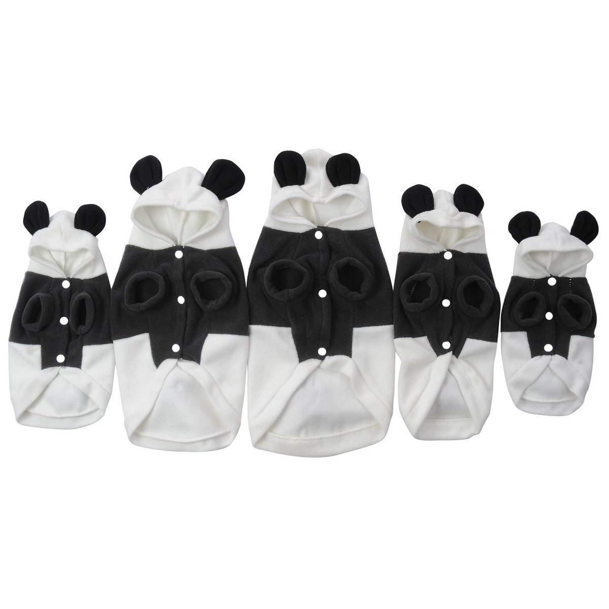 Panda Suit Hoodie Costume Pet Dog Clothes Cute Fleece Clothes Soft Warm Coat Jacket Cosplay Outwear Apparel For Dogs Cats Pet