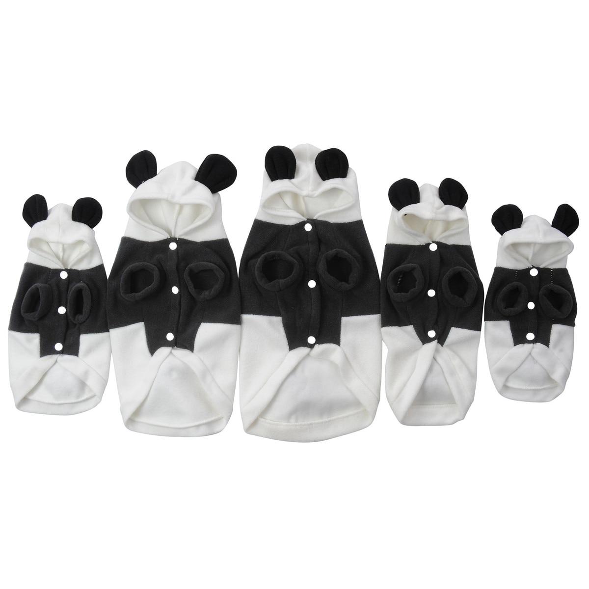 Panda Suit Hoodie Costume Pet Dog Clothes Cute Fleece Clothes Soft Warm Coat Jacket Cospla