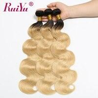 RUIYU 1b 613 Bundles Ombre Hair Bundles Brazilian Body Wave Human Hair 3 4 Bundles Ombre Blonde Hair Non Remy Hair Extensions