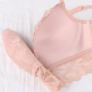 Image 5 - Termezy 새로운 여성 속옷 세트 레이스 섹시 푸시 업 브래지어와 팬티 세트 편안한 브래지어 블랙 자수 꽃 란제리