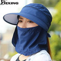 [Dexing]Women Outdoor Quick Drying Sun Hat With Face Neck Cover UV Protection Breathable Cycling Climbing Fishing sun hat