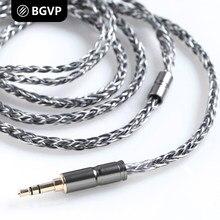 Cabo do fone de ouvido 8 BGVP 6N do núcleo 400 core OCC único cristal de cobre prateado HIFI headphone atualize cabo MMCX DM7 DMG DMS DM6