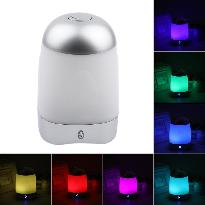 250ML Ultrasonic Air Humidifier 7 Colours LED Light Aroma Essential Oil Diffuser