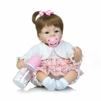 35CM Silicone Reborn Baby Doll Kids Playmate Gift For Girls 14 Inch Baby Alive Soft Toys