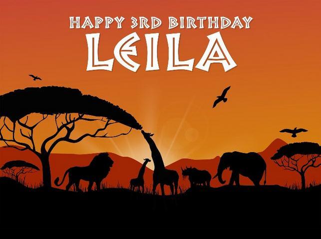 custom african safari animal tree birthday themed