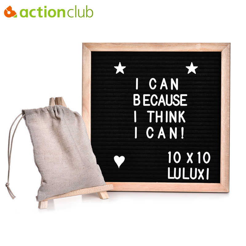 Actionclub Black Felt Letter Board Set Letters Symbols Changeable Wooden Message Board Sign Oak Wood Frame Canvas Bag Wood Stand расходный материал 750 760 novajet750