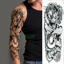 Solid asian style dragon tattoo