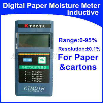 Free Shipping Digital Inductive Moisture Meter Tester  Range: 0%-95% Resolution: 0.1%  Application: Paper, cartons