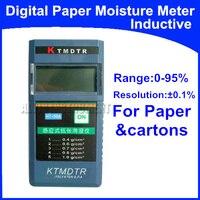 Free Shipping Digital Inductive Moisture Meter Tester Range: 0% 95% Resolution: 0.1% Application: Paper, cartons