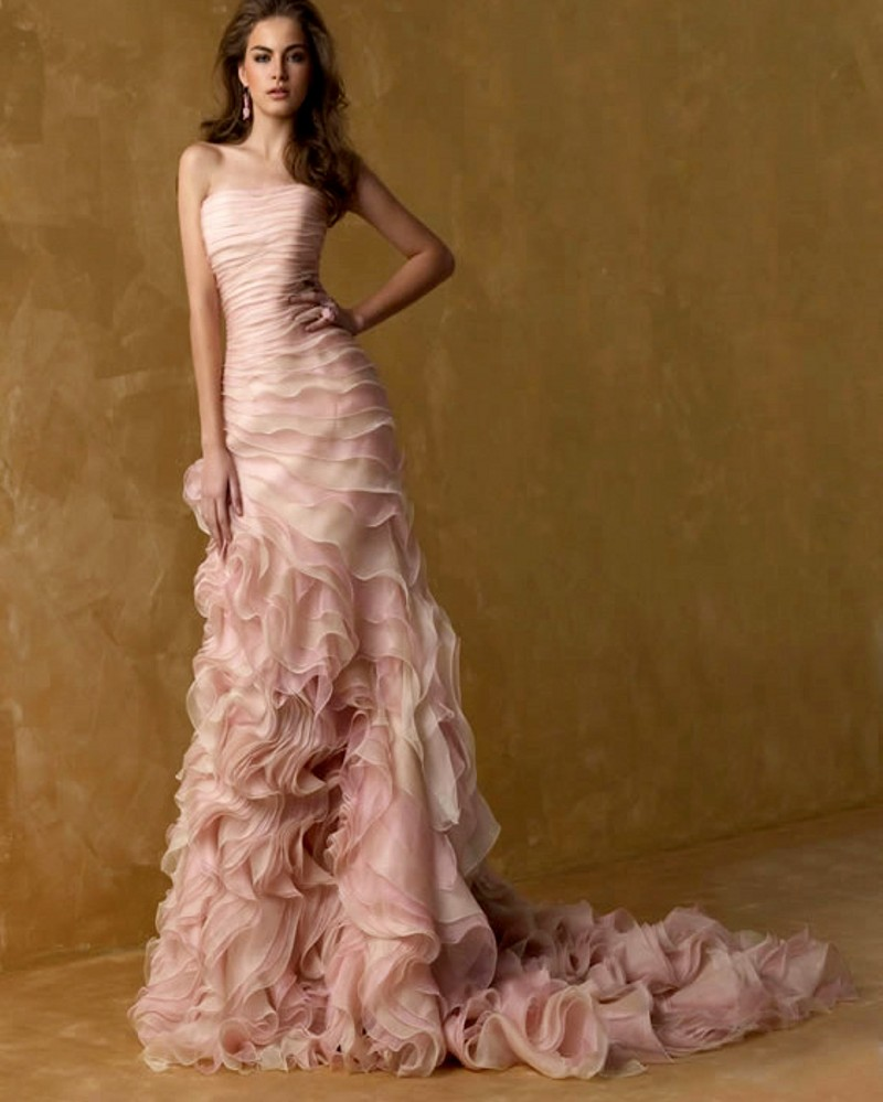 Rose Pink Wedding Dress