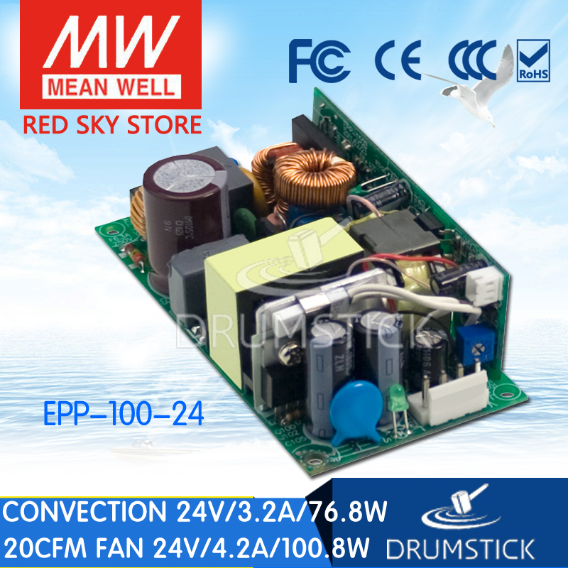 Genuine MEAN WELL EPP-100-24 24V 3.2A meanwell EPP-100 24V 76.8W Single Output with PFC Function epp petrone minu ameerika i