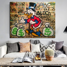 Alec Monopoly Scrooge Mcduck Canvas Painting Prints Living Room Home Decoration Modern Wall Art Oil Posters Pictures HD