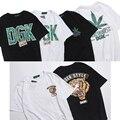 2017 hot dgk t shirt homens dgk folha de cânhamo mulheres tigre impresso T-Shirt de Algodão de alta Qualidade Hip Hop LOGOTIPO CAIXA Palácio Yeezy Tshirt 3D