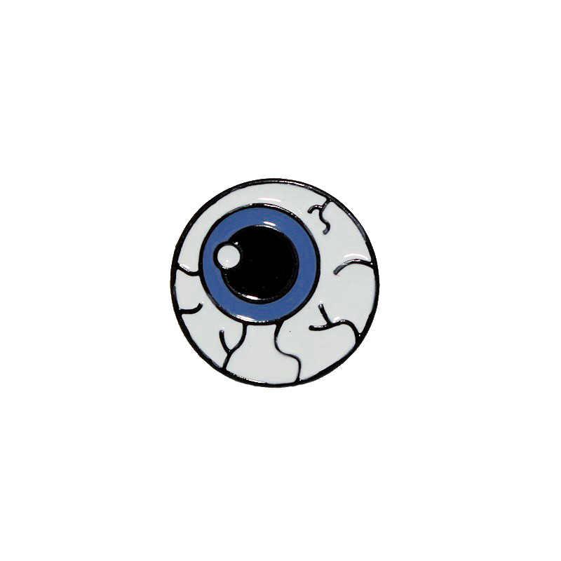 女性メンズブローチゾンビ脳眼球ハート歯臓器エナメルデニムジャケットラペルバッジシャツブラウスの襟クリップピンブローチ