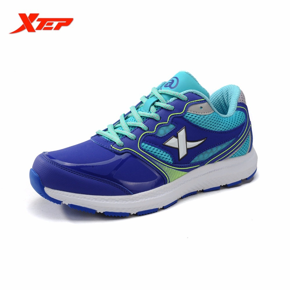 XTEP Brand Mens Running 2017 Outdoor Sports New Air Mesh Men Shoes For Valentine's Gifts Leather Surface Sneakers Cushioning