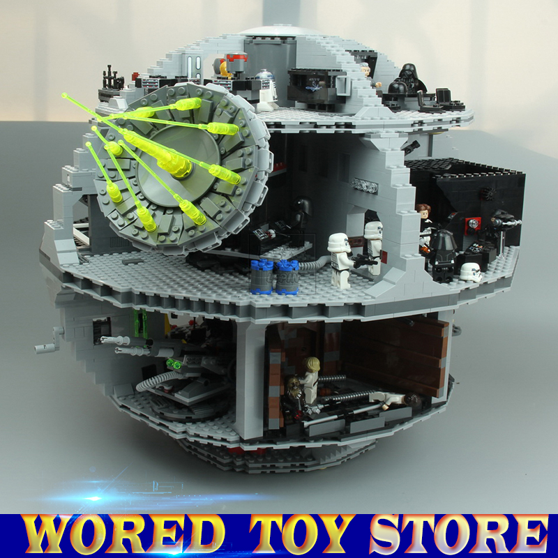New Lepin 05063 4016pcs Star Series Wars Death Star Building Block Bricks toys for children Kits Compatible legoed with 75159 dhl lepin 05063 4016pcs star plan series wars death star building block bricks toys kits compatible legoing 75159 christmas gift