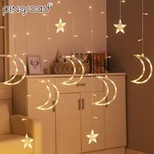 3,5 м 138 светодиодный s Moon Star светодиодный светильник s гирлянда на батарейках Сказочный светильник s гирлянда USB праздничный декоративный светильник PD065