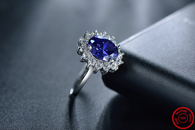 20ct модные Настоящее Твердые 925 Серебряное кольцо женские