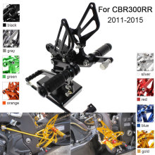CNC Aluminum Adjustable Rearsets Foot Pegs For Honda CBR300RR CBR 300RR 2011 2012 2013 2014 2015 cnc aluminum adjustable rearsets foot pegs for honda cbr300rr cbr 300rr 2011 2012 2013 2014 2015
