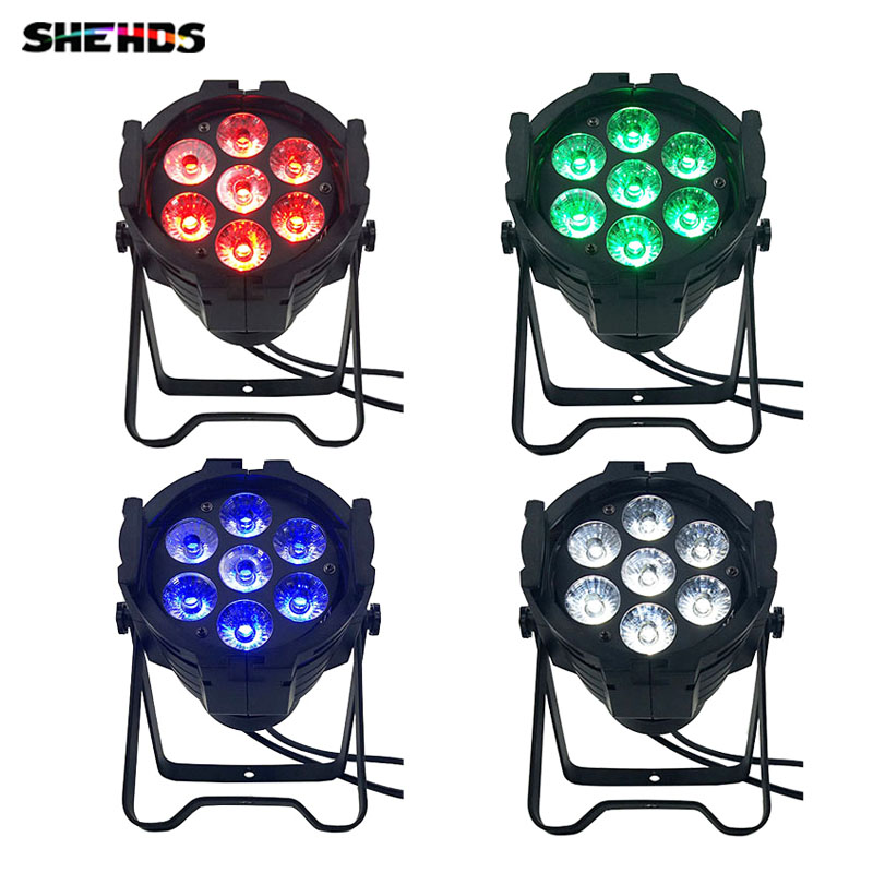 4pcs/lot LED Par Can 7x12W Aluminum alloy LED Par RGBW 4in1 DMX512 Wash dj stage light disco party light Dj Lighting,SHEHDS