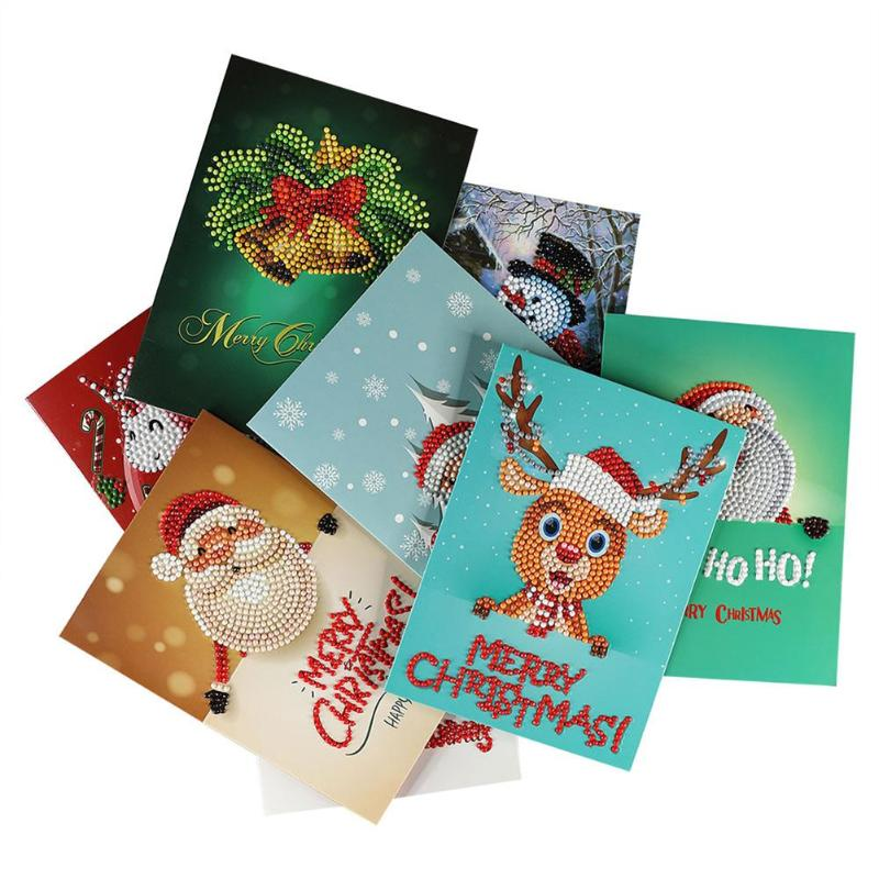 Christmas Greeting Cards DIY 5D Diamond Painting Tools Set New Year ...