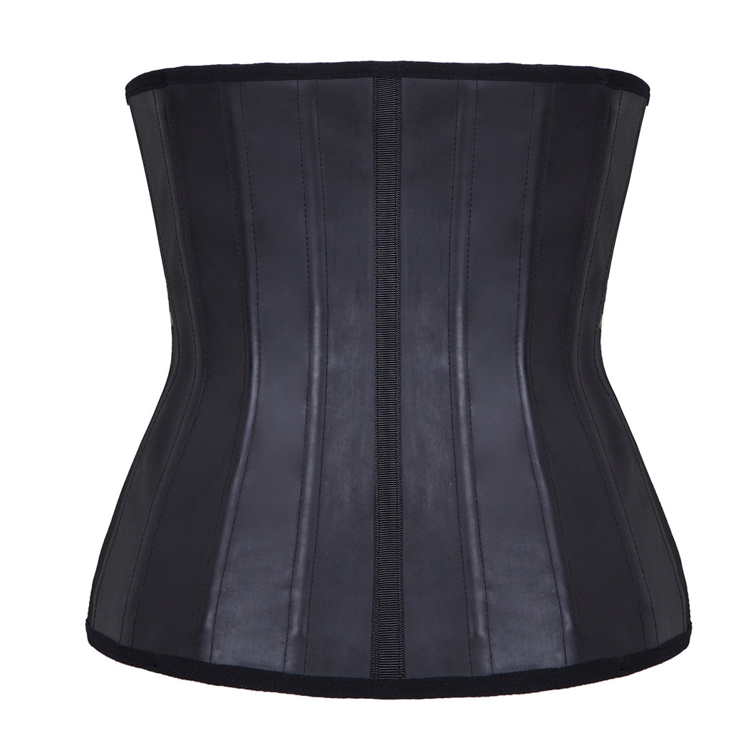 Corset Underbust Harness Bustiers Body-Shaper Waist-Train Latex Plussize Boned 25-Steel
