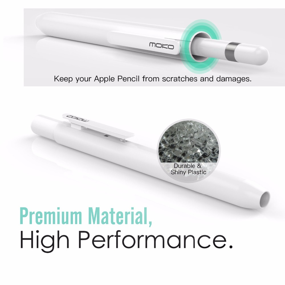Moko Protective Case for Apple Pencil,Pencil Case Holder with Built-in Clip,Retractable Tip Protection,Spring Button,Secures Cap