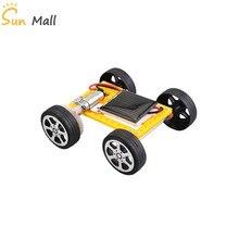 1 шт. мини игрушка на солнечных батареях DIY автомобильный комплект/солнечная панель автомобиля
