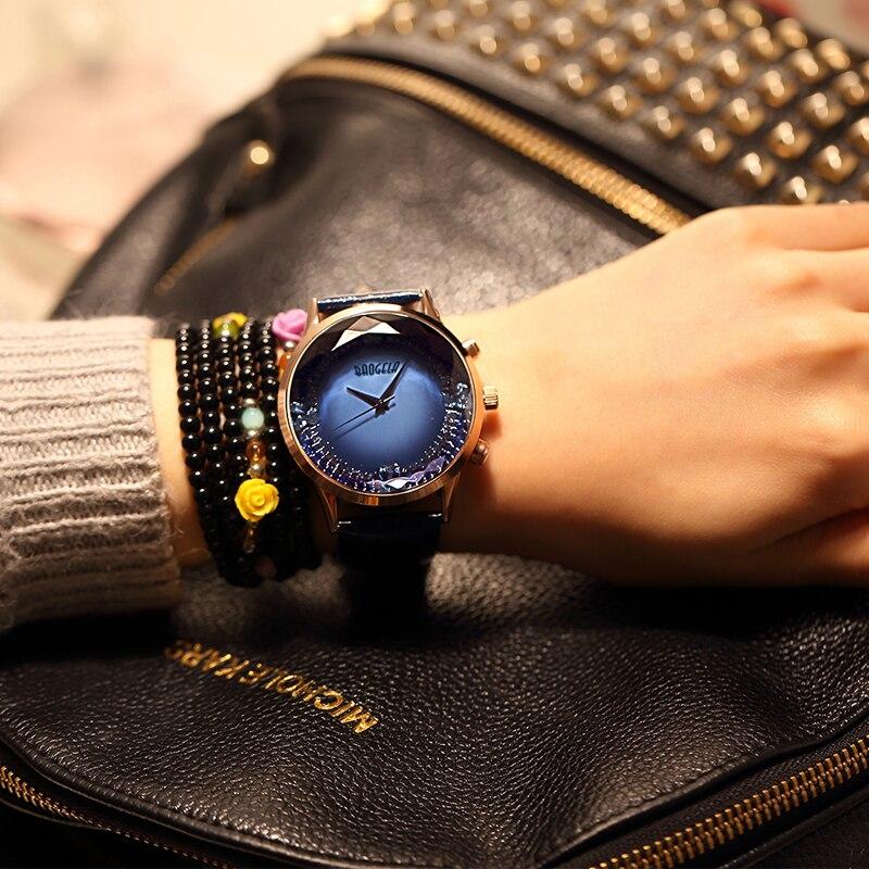 Baogela Womens Big Face Fashion Luxury Dress Quartz Wrist Watch with Leather Strap