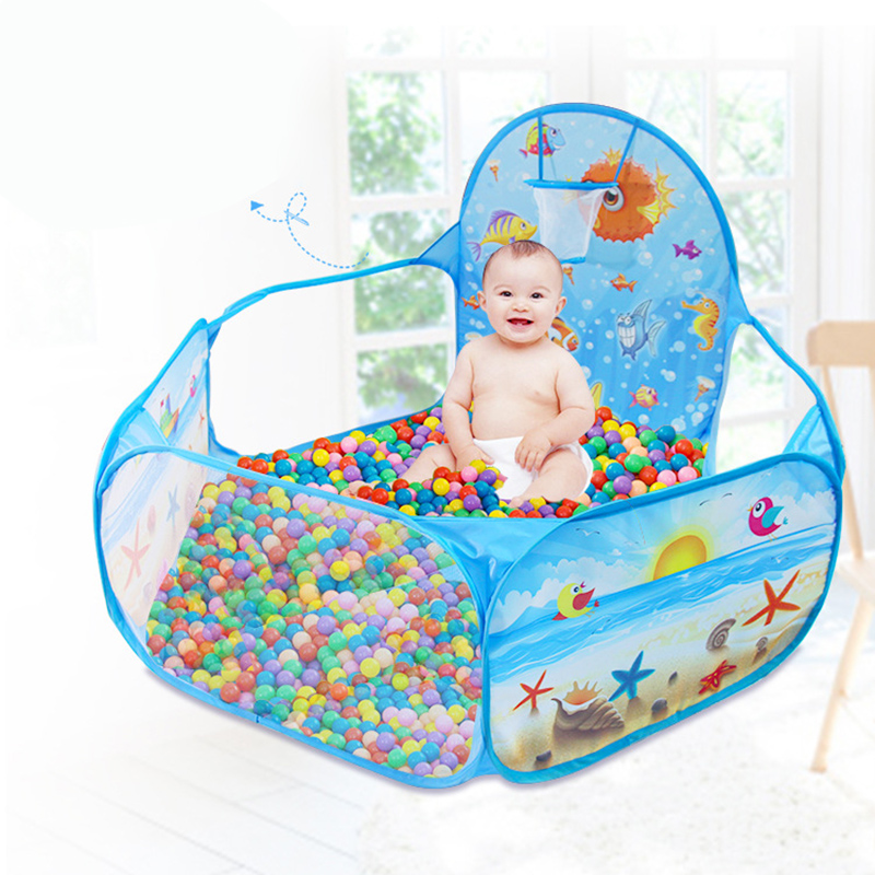 Foldable Childrens Toys Playing Tent Ocean Balls Pit Baby Play Ball Pool With Basket Net Outdoor Game Large TentFoldable Childrens Toys Playing Tent Ocean Balls Pit Baby Play Ball Pool With Basket Net Outdoor Game Large Tent