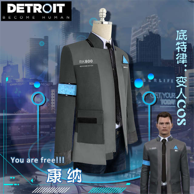 US $28 41 42% OFF|Game Detroit: Become Human Connor RK800 Agent Suit  Uniform Tight Unifrom Cosplay Costume for Halloween jacket full set-in  Anime