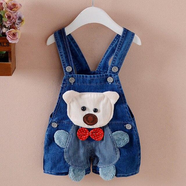 823ef7d75c08 BibiCola boys pants jeans shorts kids denim overalls suspender children  cute cartoon bebe jumpsuit summer bib pants clothes