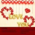 1 conjunto DIY romântico dia dos namorados decoração carta de amor coração vermelho , balão balão de festa incluído